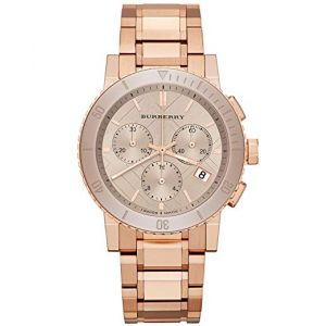 Burberry The City Chronograph Rose Dial Ladies Watch BU9703