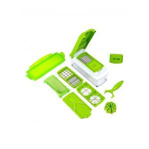 Nicer Dicer plus 11-Piece Fruit And Vegetable Chopper And Slicer Set Green
