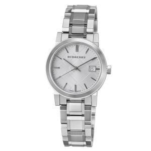 Share Burberry BU9213 Swiss Diamond Accent Stainless Steel 26mm Watch