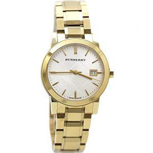 Burberry White Dial Gold-tone Ladies Watch BU9103