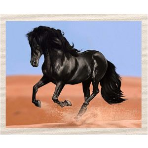 meSleep Canvas without frame - Black Horse pcvs-01-0052