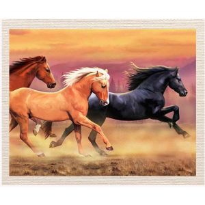 meSleep Canvas without frame - Horses pcvs-01-0058