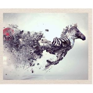 meSleep Canvas without frame - Abstract Horse pcvs-01-0063
