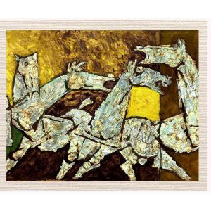 meSleep Canvas without frame - Abstract Horse pcvs-01-0065