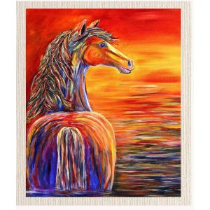 meSleep Canvas without frame - Sun Set Horse pcvs-01-0075