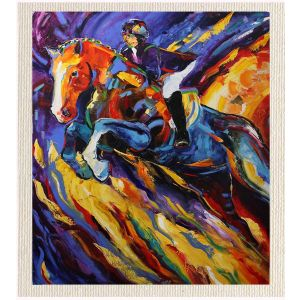 meSleep Canvas without frame -Jumping Horse pcvs-01-0097