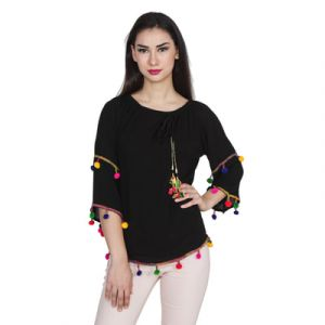 Black Reyon Top SHG-JOL-160-012