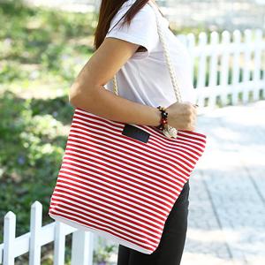 Striped Canvas Long Shoulder Bags