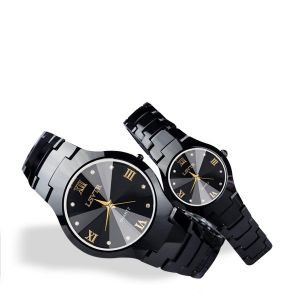 Titanium Black Dial Premium Couple Watch