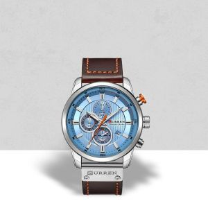 Brown Dial Formal Leather Wrist Watches