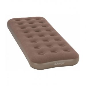 Vango Flocked Single Air Bed - Nutmeg