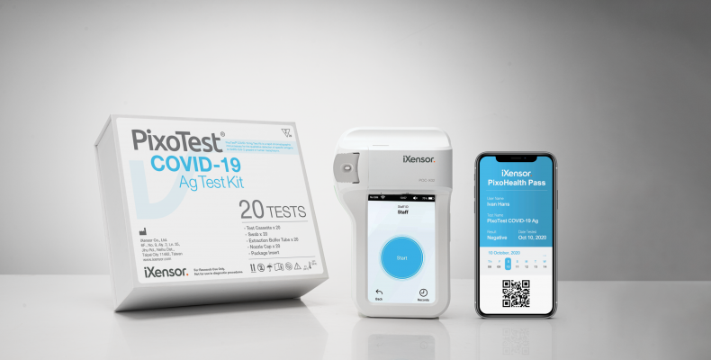 PixoTest® COVID-19 Antigen Test and PixoHealth Pass