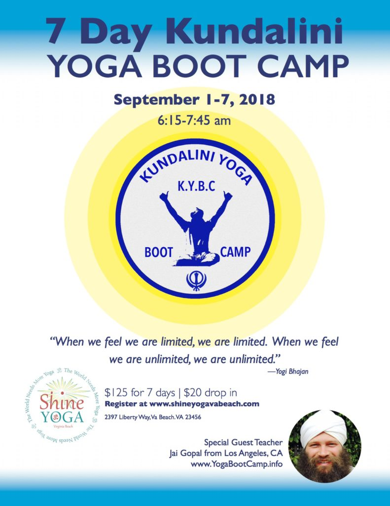 kundalini yoga boot camp Virginia Beach
