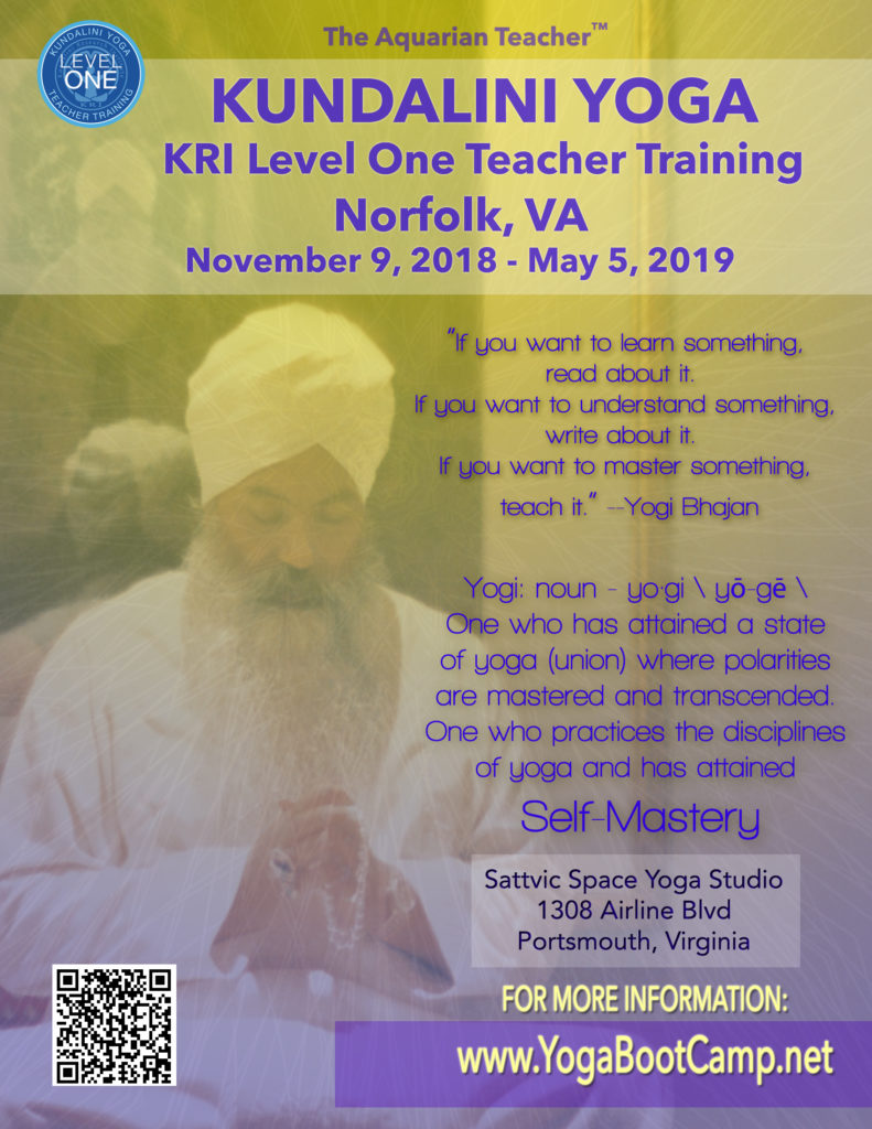 Kundalni Level One Teacher Norfolk Virginia Beach Hampton