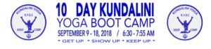 kundalini yoga boot camp los angeles fall 2018