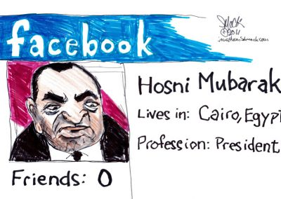 Mubarak on Facebook