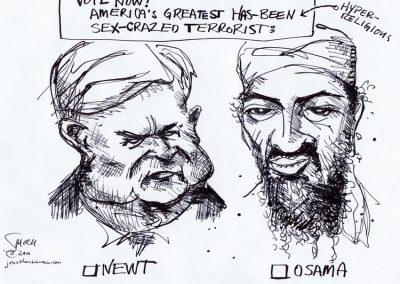 Newt vs. Osama