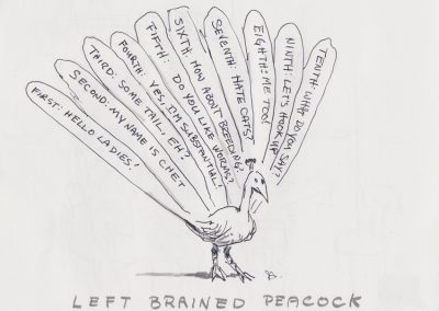 Left Brained Peacock