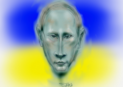 Putin Over the Ukraine 6x8