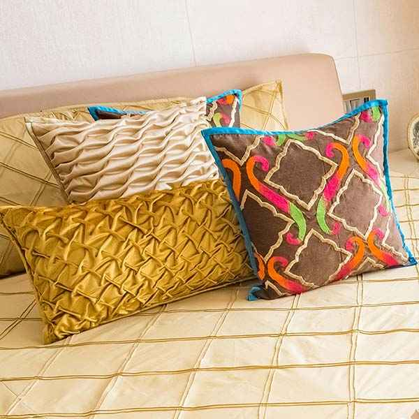 Pink Champa Lumbar Pillows