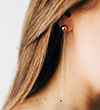 Ania Haie Out of this World Orbit Drop s - Rhodium with Rose Gold Earring