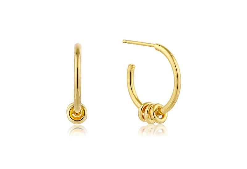 Ania Haie Modern Minimalism Modern Hoop s - Shiny Gold Earring