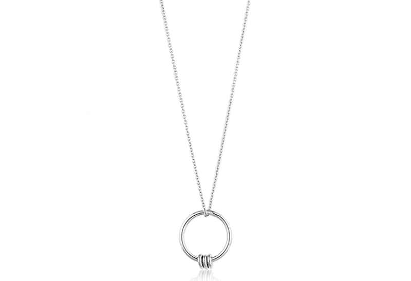 Ania Haie Modern Minimalism Modern Circle - Rhodium Necklace