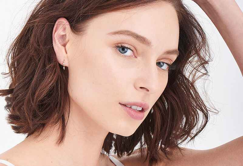 Ania Haie Touch of Sparkle Shimmer Stud Hook s - Shiny Gold Earring