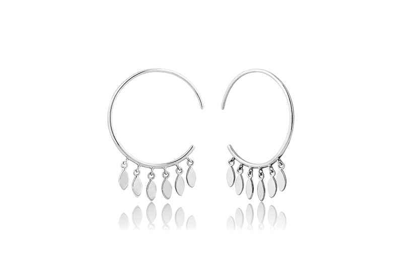 Ania Haie All Ears MULTI-DROP HOOP EARRINGS - RHODIUM Earring