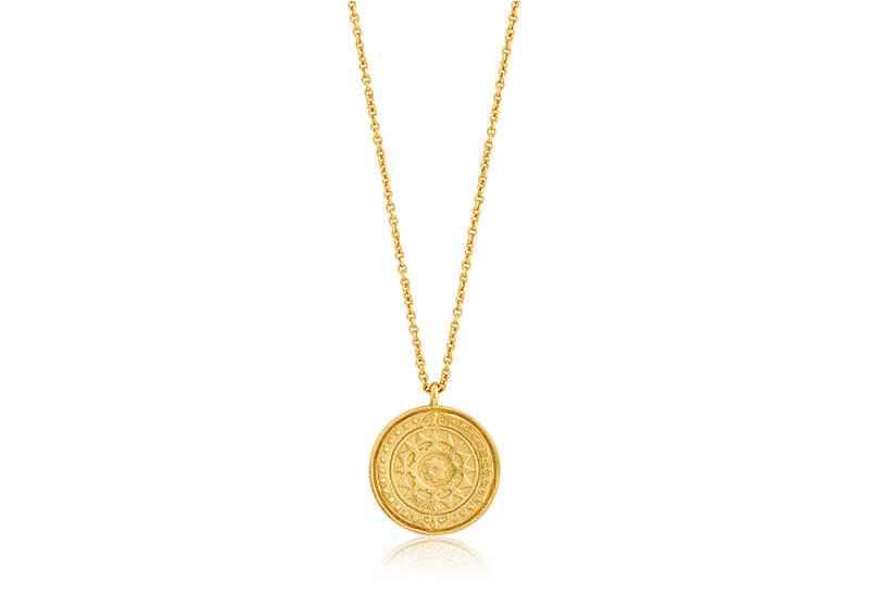 Ania Haie Coins Verginia Sun - Shiny Gold Necklace