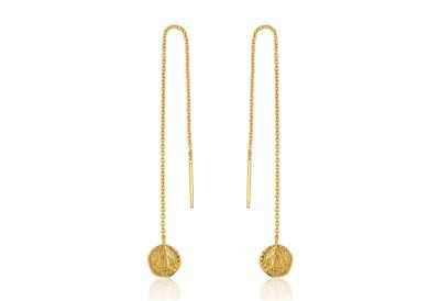Ania Haie Deus Threader Earrings - Shiny Gold