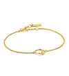 Ania Haie Out of this World Orbit Chain Circle - Shiny Gold Bracelet