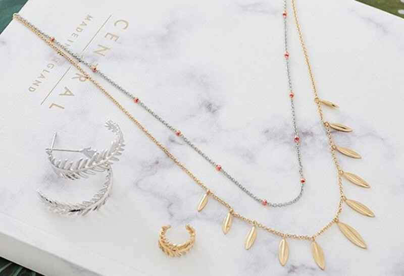 Ania Haie Out of this World Orbit Beaded - Rhodium with Rose Gold Necklace