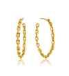 Ania Haie Links Chain Hoop s - Shiny Gold Earring