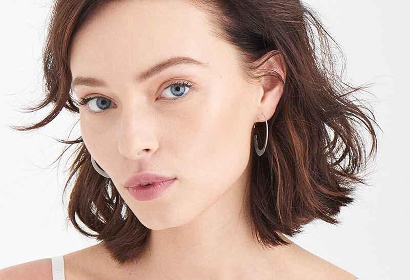 Ania Haie Geometry Class Geometry Slim Hoop s - Rhodium Earring