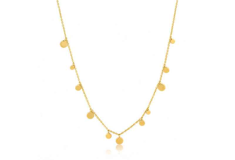 Ania Haie Geometry Class Geometry Mixed Discs - Shiny Gold Necklace