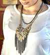 Avery and May Spiritual Warrior Collection Tasselled Chain Necklace Big Necklace
