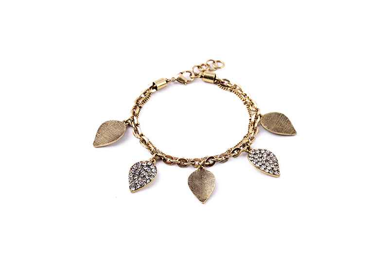 Avery and May Statement Collection Leaves Of Gold & Light Bracelet
