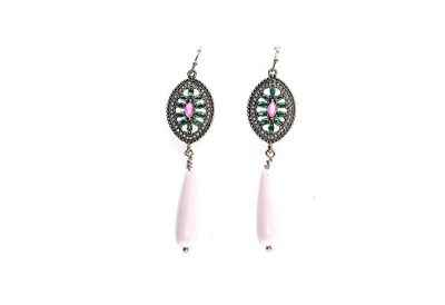 Avery and May Stained Glass Teardrop Earrings