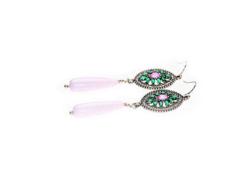 Avery and May Statement Collection Stained Glass Teardrop s Earring