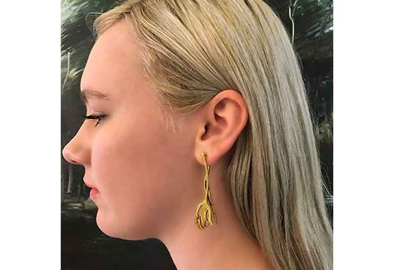 Avery and May Spiritual Warrior Collection Cutout Tulips s Earring