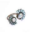 Avery and May Statement Collection Faux Opal Mint Lucky Blossom Ring