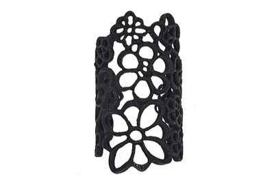 Avery and May Large Elegant Flowered Lace Ring Cuff