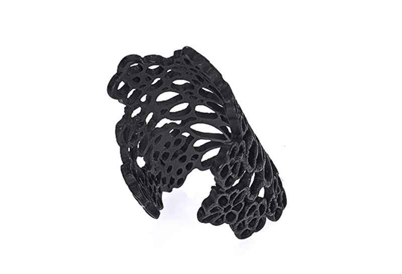 Avery and May Spiritual Warrior Collection Large Elegant Flowered Lace Cuff Ring