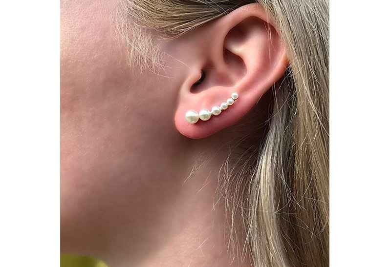 Avery and May Debutante Collection Pearl Cascade Earring