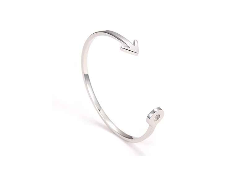 Avery and May Debutante Collection Cupid's Arrow Silver Bracelet