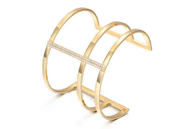 Avery and May May Power Bling Cuff Bracelet