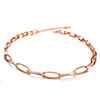 Avery and May Boho Eliptical Link Chain Necklace Small Necklace