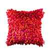 Pink Champa Into the Flame Square Pillow Cover