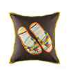 Pink Champa Flip Flop Square Pillow Cover